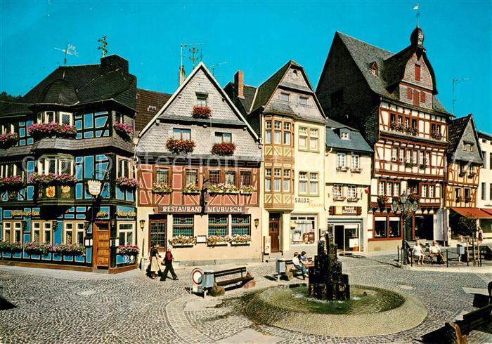 AK / Ansichtskarte Adenau Marktplatz Brunnen Adenau 0