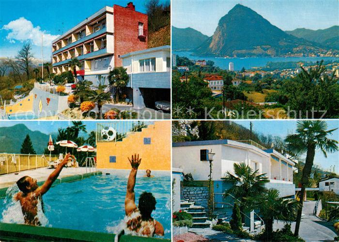 AK / Ansichtskarte Pregassona_Lugano Ferienhaus Appartementhaus Bella Vista Swimming Pool Luganersee Pregassona Lugano