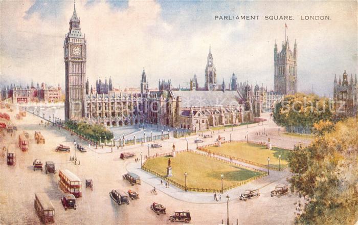 AK / Ansichtskarte London Parliament Square London