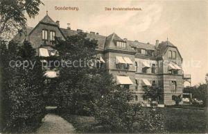 AK / Ansichtskarte Sonderburg Kreiskrankenhaus Sonderburg