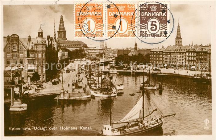 AK / Ansichtskarte Kobenhavn Holmens Kanal Kobenhavn