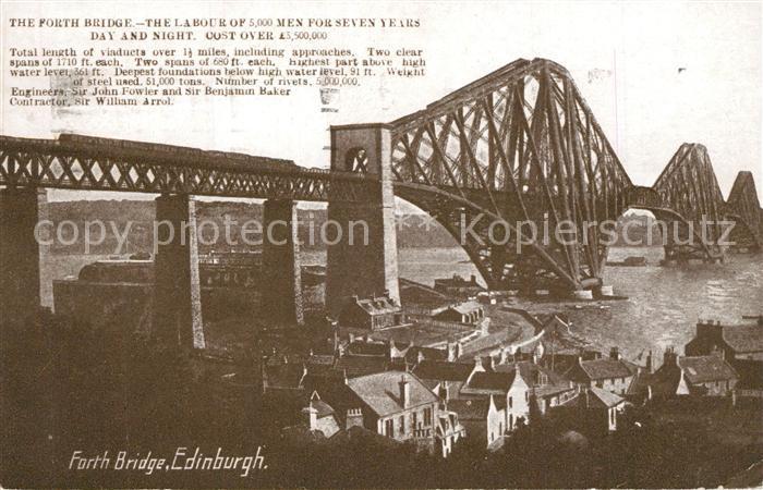 AK / Ansichtskarte Edinburgh Forth Bridge Edinburgh