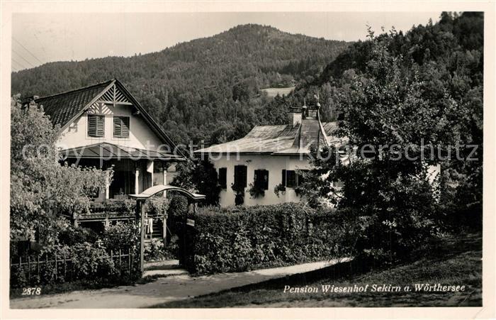 AK / Ansichtskarte Sekirn_Woerther_See Pension Wiesenhof Sekirn_Woerther_See