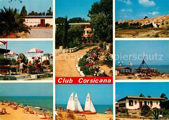 AK / Ansichtskarte San Nicolao Club Corsicana Feriendorf Bungalows Strand San Nicolao