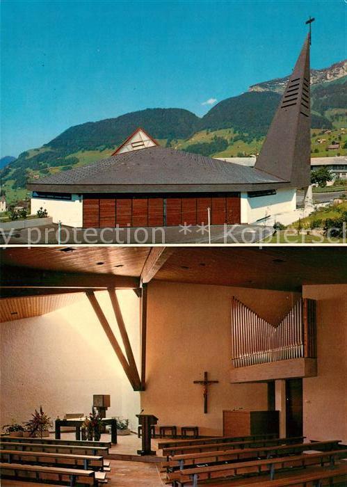 AK / Ansichtskarte Amden_SG Katholische Kirche Innenansicht Amden_SG
