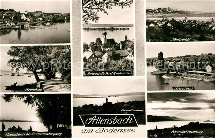 AK / Ansichtskarte Allensbach_Bodensee Fliegeraufnahme Strandbad Hegau Saentis Reichenau Allensbach_Bodensee 0