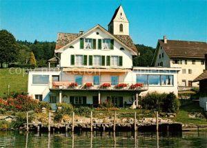 AK / Ansichtskarte Bollingen_See Gaster Restaurant Schiffahrt Oberer Zuerichsee Bollingen_See Gaster