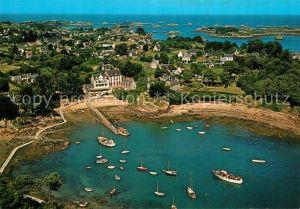 AK / Ansichtskarte Ile de Brehat Port Clos Vue aerienne Ile de Brehat