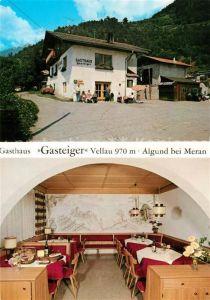 AK / Ansichtskarte Vellau Gasthaus Gasteiger Gaststube Vellau