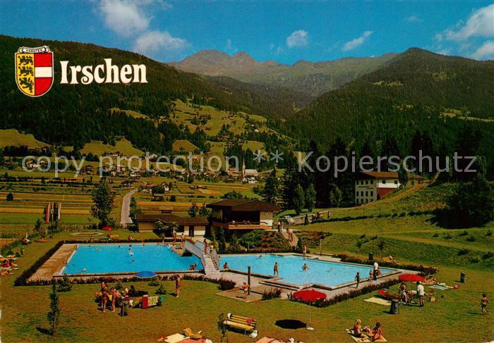 AK / Ansichtskarte Irschen_Kaernten Panorama Schwimmbad Irschen Kaernten
