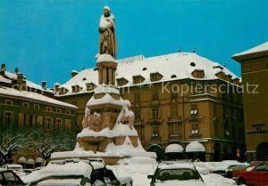 AK / Ansichtskarte Bozen_Suedtirol Waltherplatz mit Denkmal Walter von der Vogelweide Bozen Suedtirol