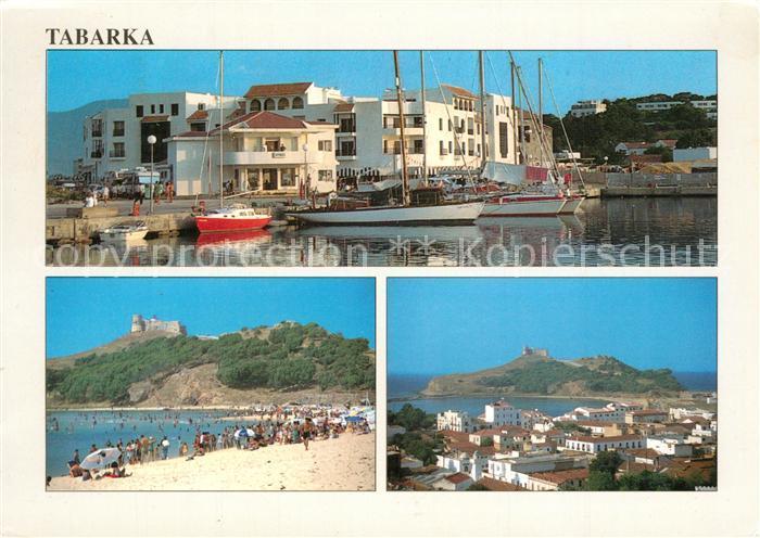 AK / Ansichtskarte Tabarka Hafen Fliegeraufnahme Strand Tabarka