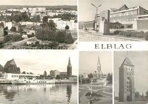 AK / Ansichtskarte Elblag Widok ogolny Dom Kultury Kosciol Brama Targowa Stadtpanorama Kulturpalast Kirche  Elblag