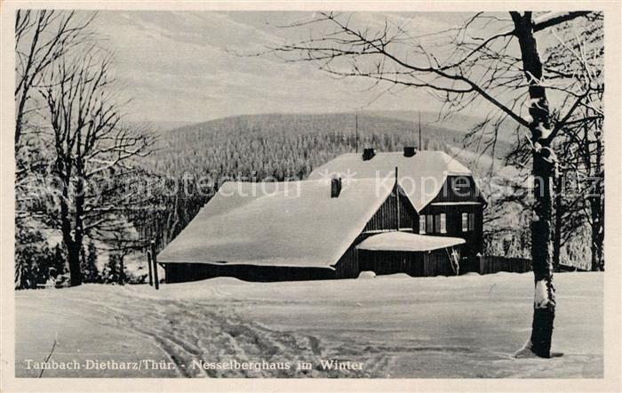 AK / Ansichtskarte Tambach Dietharz Nesselberghaus im Winter Thueringer Wald Tambach Dietharz 0