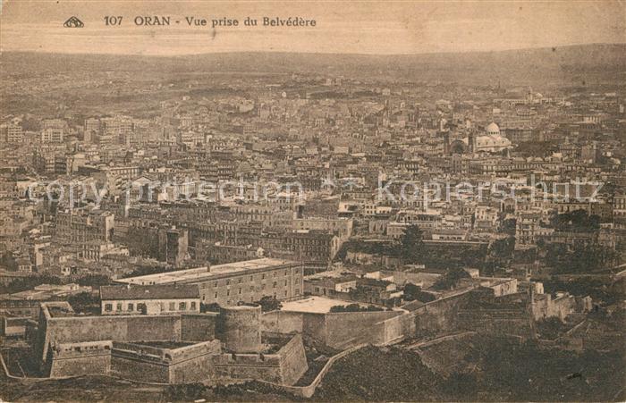 AK / Ansichtskarte Oran_Algerie Vue prise du Belvedere Oran Algerie