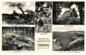 AK / Ansichtskarte Schmallenberg Jugendherberge Astenberg Ruhrquelle Lennequelle Lennetal mit Blick zum Astenberg Schmallenberg