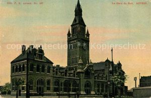 AK / Ansichtskarte Anvers_Antwerpen La Gare du Sud Bahnhof Anvers Antwerpen