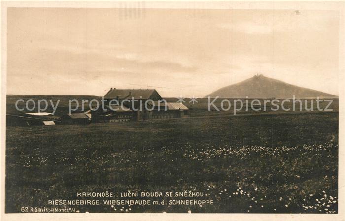 AK / Ansichtskarte Wiesenbaude_Riesengebirge Schneekoppe Snezka Wiesenbaude Riesengebirge