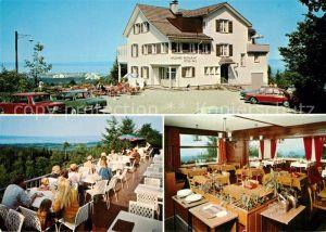 AK / Ansichtskarte St_Gallen_SG Wildpark Restaurant Peter und Paul Terrasse Gastraum St_Gallen_SG