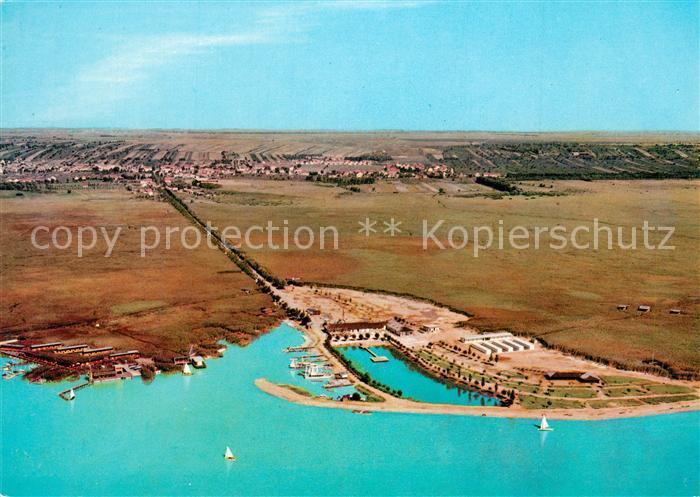 AK / Ansichtskarte Neusiedl_See Strandbad Fliegeraufnahme Neusiedl See