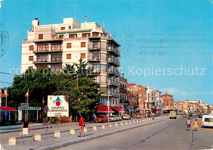 AK / Ansichtskarte Cambrils Strassenpartie Cambrils