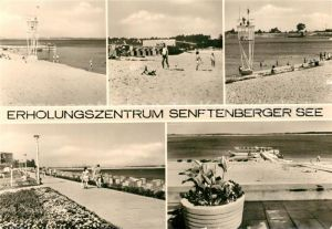 AK / Ansichtskarte Senftenberg_Niederlausitz Erholungszentrum Senftenberger See Strand Promenade Senftenberg_Niederlausitz