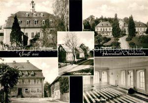 AK / Ansichtskarte Herrnhut Kirchensaal Comeniusstrasse Vogtshof Witwenhaus Herrnhut