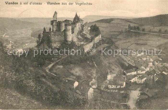 AK / Ansichtskarte Vianden Fliegeraufnahme Schloss Vianden