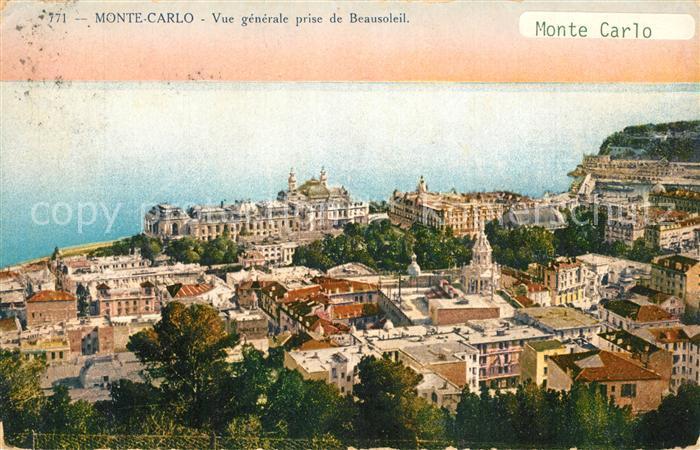 AK / Ansichtskarte Monte Carlo Panorama Beausoleil Monte Carlo