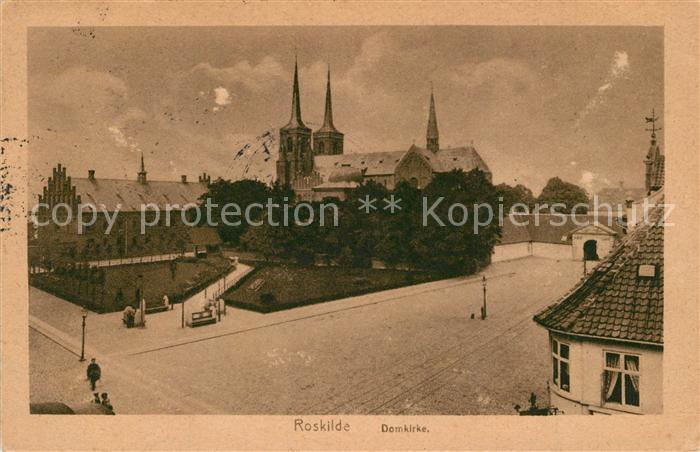 AK / Ansichtskarte Roskilde Domkirche Roskilde