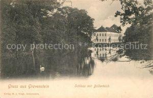 AK / Ansichtskarte Gravenstein Schloss mit Bilderteich  Gravenstein