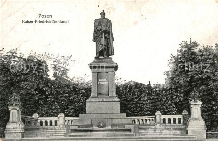 AK / Ansichtskarte Posen_Poznan Kaiser Friedrich Denkmal Posen Poznan