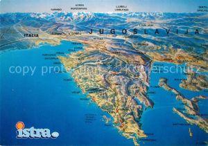 AK / Ansichtskarte Jugoslawien_Yugoslavie Nordwestliche Teil des Landes Sozialistische Republik Slowenien Sozialistische Republik Kroatien aus der Vogelperspektive Jugoslawien_Yugoslavie