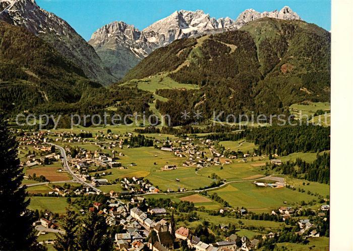 AK / Ansichtskarte Koetschach Mauthen_Kaernten Panorama Blick zum Cellon Kellerwand Mauthner Alm Mooskofel Karnische Alpen Koetschach Mauthen Kaernten