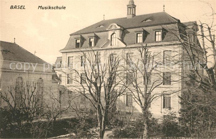 AK / Ansichtskarte Basel_BS Musikschule Basel_BS