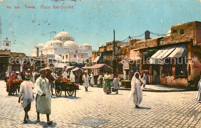 AK / Ansichtskarte Tunis Place Bab Souika Tunis
