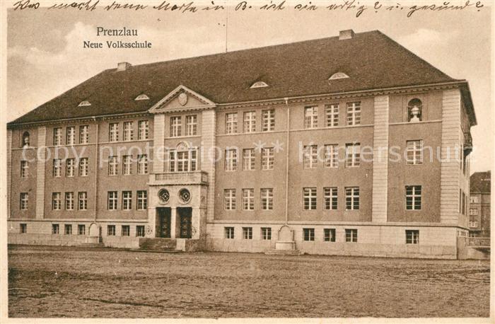 AK / Ansichtskarte Prenzlau neue Volksschule Prenzlau