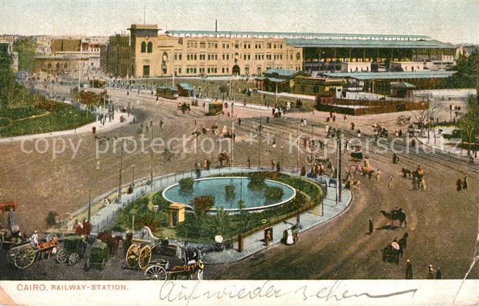 AK / Ansichtskarte Cairo_Egypt Railway Staton Cairo Egypt