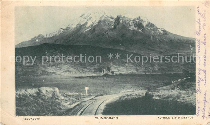 AK / Ansichtskarte Chimborazo Altura 6310 metros Chimborazo