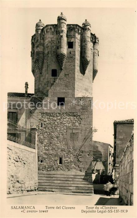 AK / Ansichtskarte Salamanca Torre del Clavero Salamanca