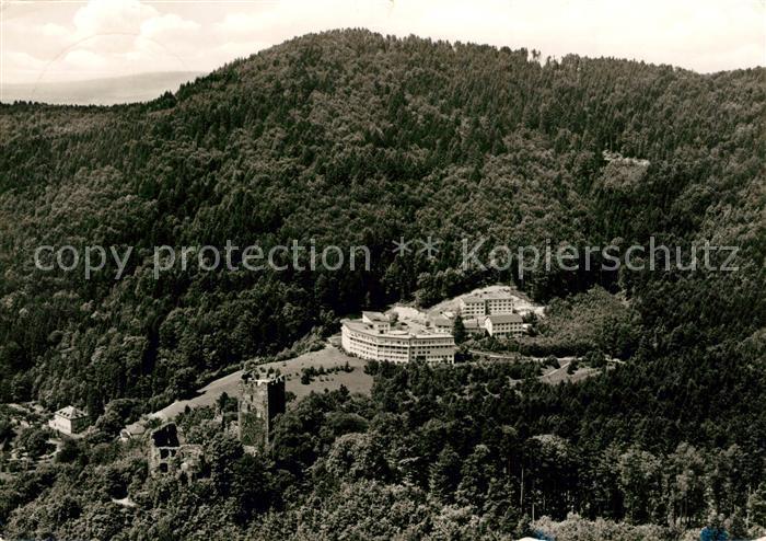AK / Ansichtskarte Waldkirch_Breisgau Kastelburg Krankenhaus Sanatorium Fliegeraufnahme Waldkirch Breisgau