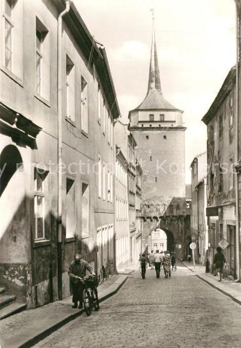 AK / Ansichtskarte Bautzen Schuelerstrasse mit Schuelerturm Bautzen