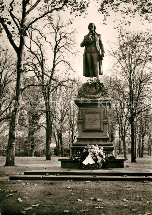 AK / Ansichtskarte Marbach_Neckar Schillerdenkmal von Ernst Rau 1876 Marbach Neckar