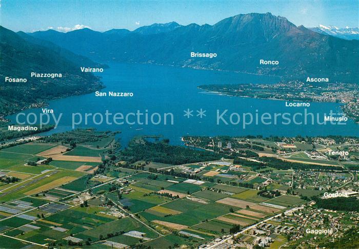 AK / Ansichtskarte Locarno_Lago_Maggiore Fliegeraufnahme Locarno_Lago_Maggiore