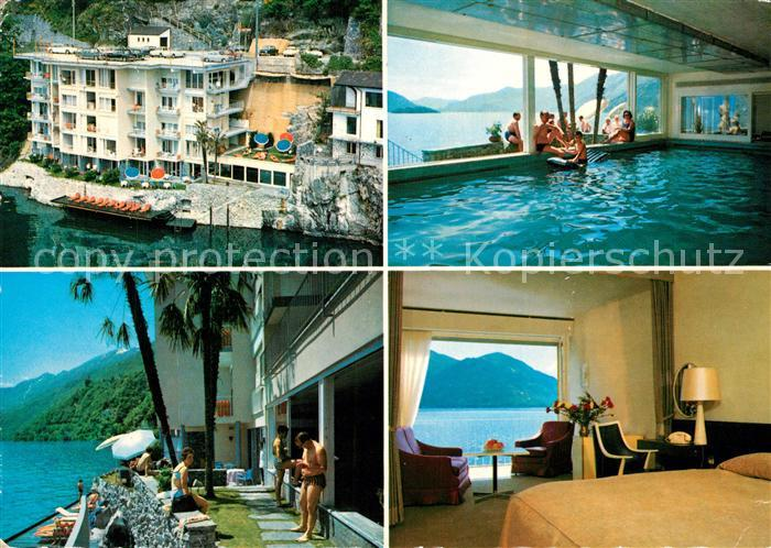 AK / Ansichtskarte Ascona_Lago_Maggiore Hotel Acapulco Hallenbad Fremdenzimmer Ascona_Lago_Maggiore