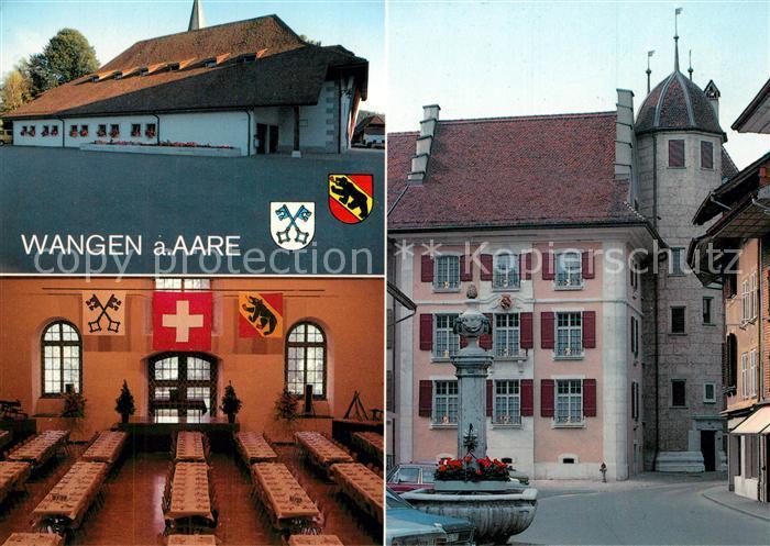 AK / Ansichtskarte Wangen_Aare Salzhaus mit Bankettsaal Wirtekonsortium Brunnen Altstadt Wangen Aare