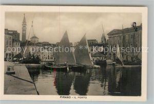 AK / Ansichtskarte Pirano Il Porto Segelboote Pirano