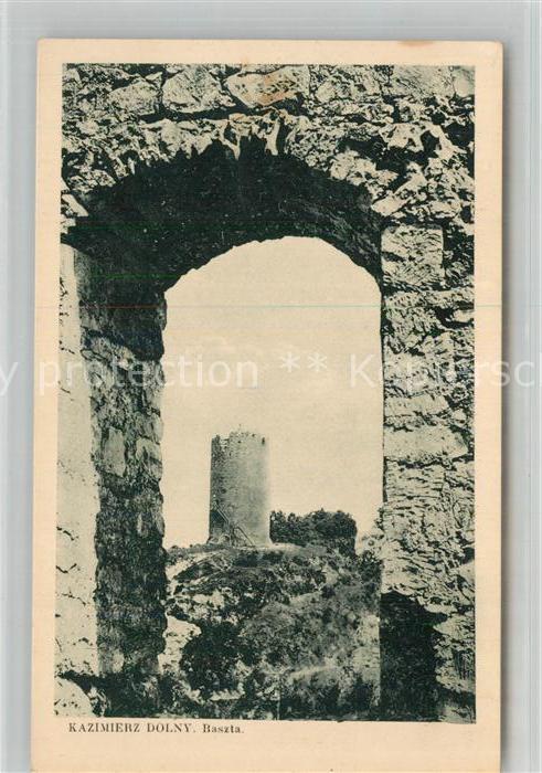 AK / Ansichtskarte Kazimierz_Dolny Steinturm Burgruine Kazimierz Dolny