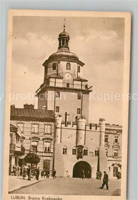 AK / Ansichtskarte Lublin_Lubelskie Brama Krakowska Lublin Lubelskie