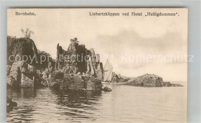 AK / Ansichtskarte Bornholm Liebertzklippen ved Hotel Helligdommen Bornholm